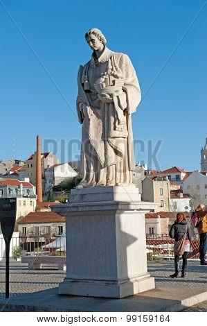 Statue Of Sao Vicente, Alfama, Lisbon, Portugal