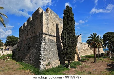 the castle Castel of Manfredonia Apulia Italy