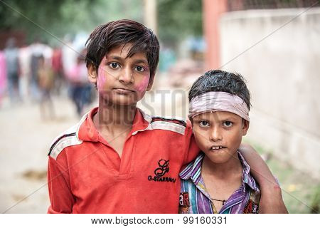 Portrait of Indian boys