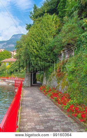 Cosy Varenna village in Lake Como, Italy.
