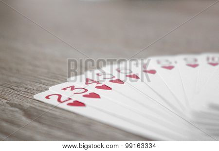Cards With Straight Flush On The Table