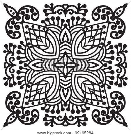 Hand Drawing Zentangle Mandala Element