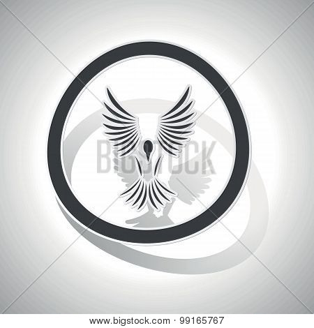 Freedom sign sticker, curved