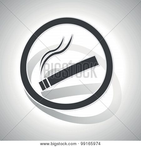 Smoking sign sticker, curved