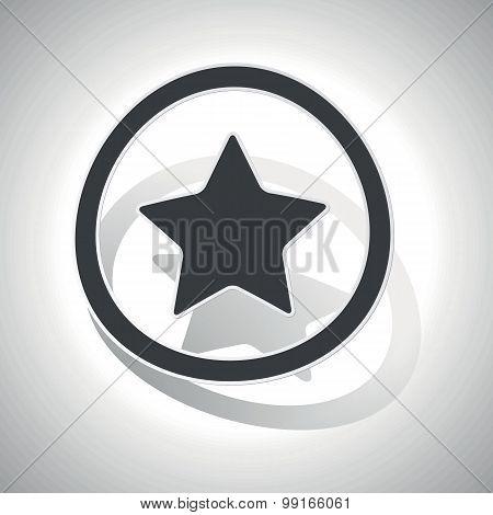 Favorite sign sticker, curved