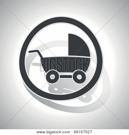 Stroller sign sticker, curved