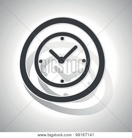 Clock sign sticker, curved