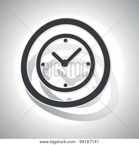 Clock sign sticker, curved