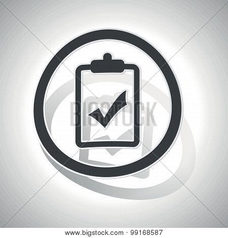 Positive result sign sticker, curved