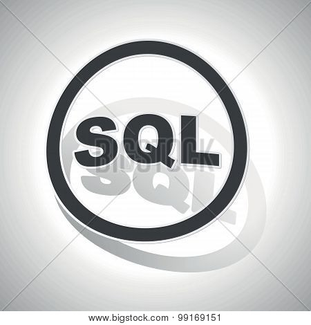 SQL sign sticker, curved