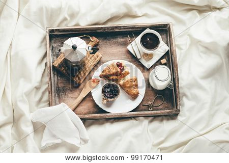 Breakfast In Bed. Window Light