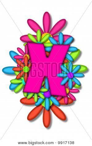 Alphabet Flower Cushion X