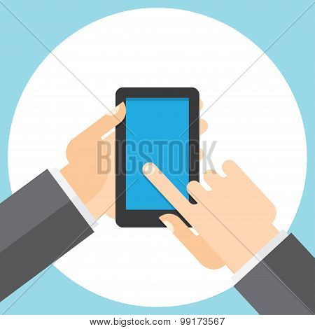 touchscreen smartphone in your hand