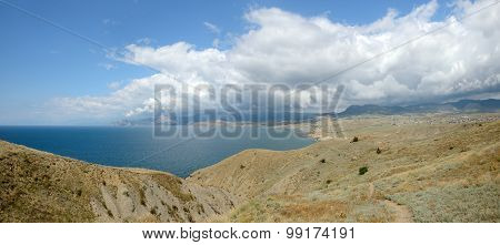View Towards Sudak And Novyi Svet From Meganom Cape, Crimea.