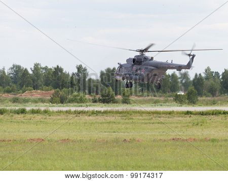 Flies A Helicopter Mi-8