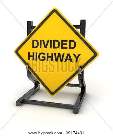 Road Sign - Divided Highway