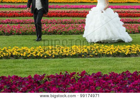 Bride And Groom Seen From Waist Down