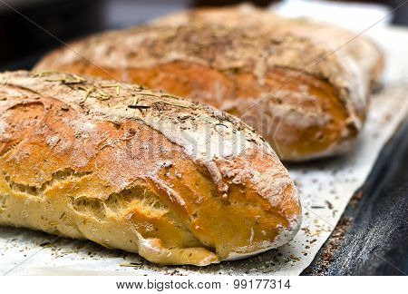 Homemade Bread With Herbs