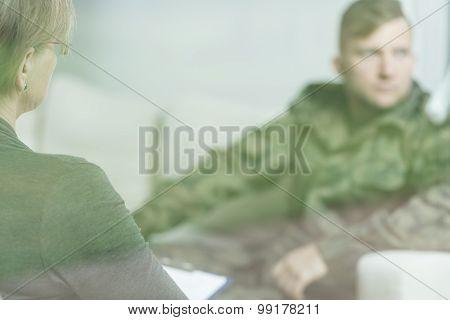 Depressed Military Man