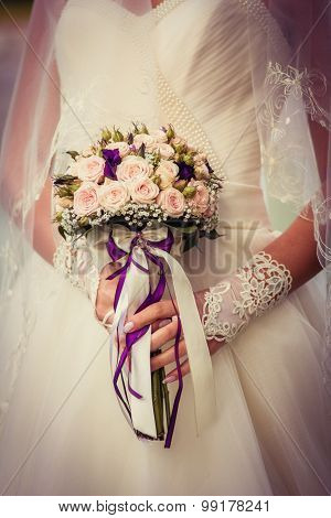 Wedding Bouquet With Little Roses