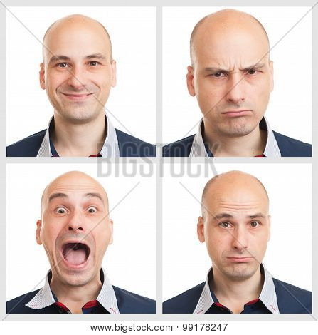Young Man Face Expressions