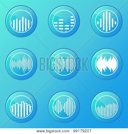 Soundwave blue icons