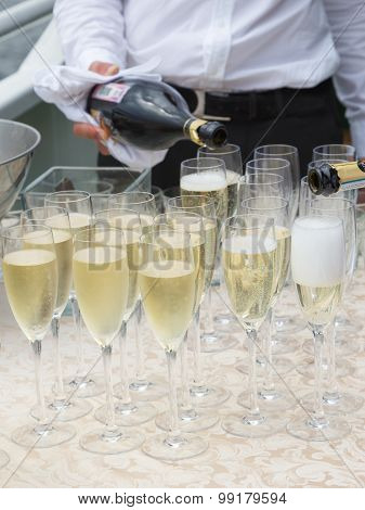 Champagne In Glass Glasses
