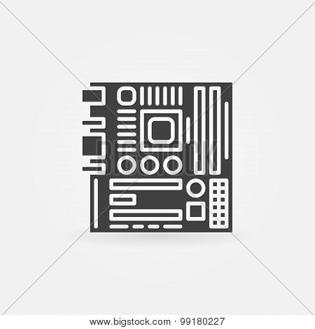 Computer motherboard icon or logo