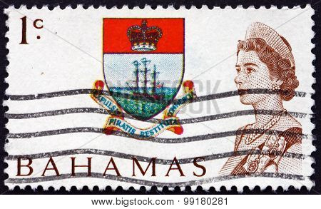 Postage Stamp Bahamas 1967 Colony Badge And Queen Elizabeth Ii