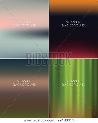 Set Of Blurred Backgrounds