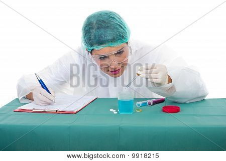 Scientist Woman In Laboratory