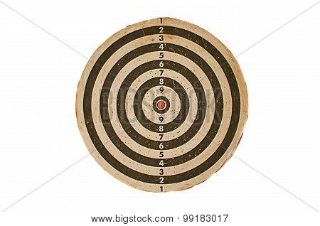 dart board on isolated on white
