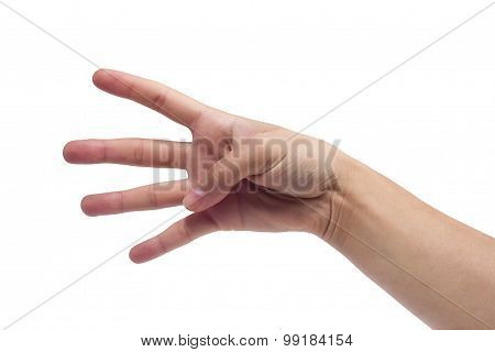 Woman hands counting.