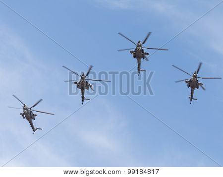 Military Helicopters Mi-28