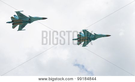 Two Fighter-bomber Su-34