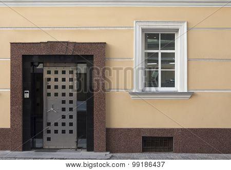 Front Door Of The Bank