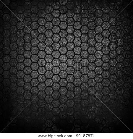 rough metal background with cellular pattern