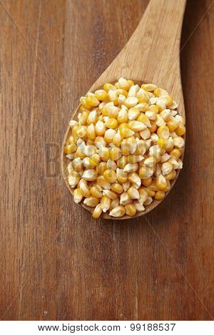 spoon of the maize corn