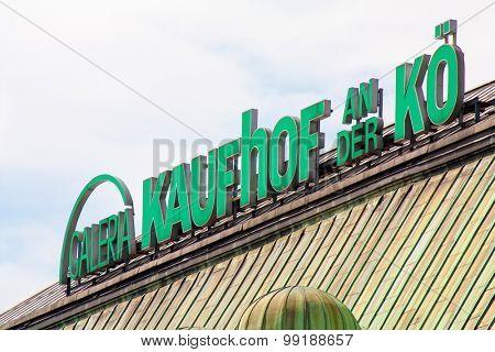 DUSSELDORF, GERMANY - JULY, 2015: Galeria Kaufhof store near Konigsallee Dusseldorf