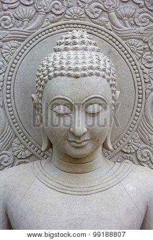 White Buddha background