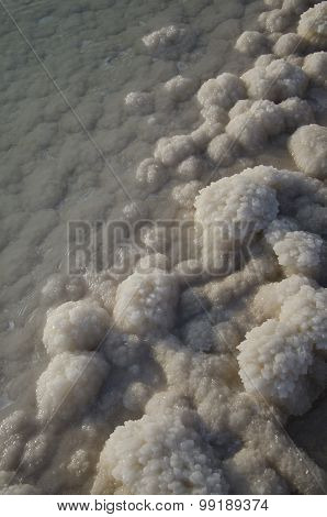 Salt Rocks  At The Dead Sea