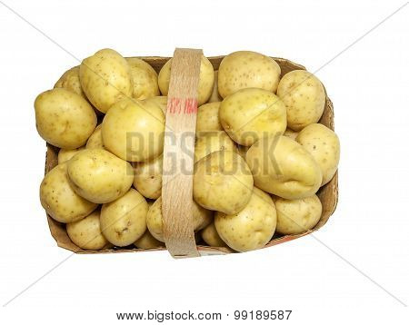 Basket with fresh Potatoes
