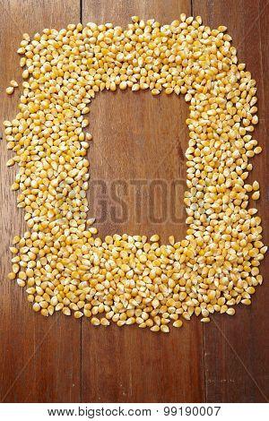 maize corn arranged shape of frame
