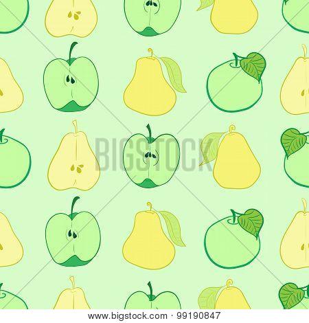 Seamless fruit slices