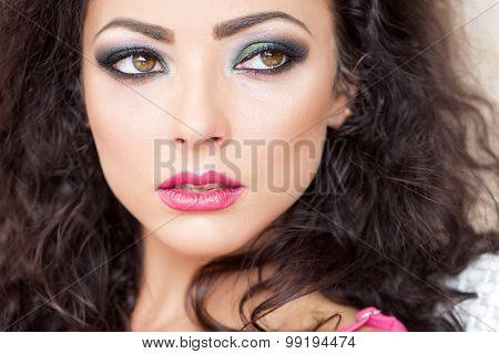 Sensual Woman Closeup