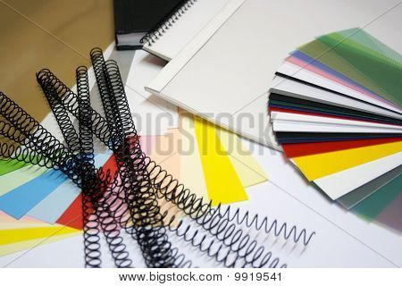 binding materials and color chart