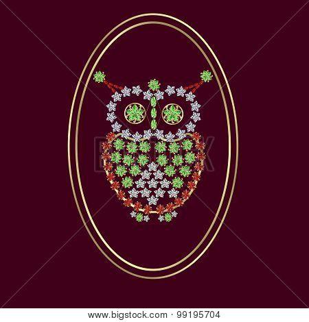 owl jeweled