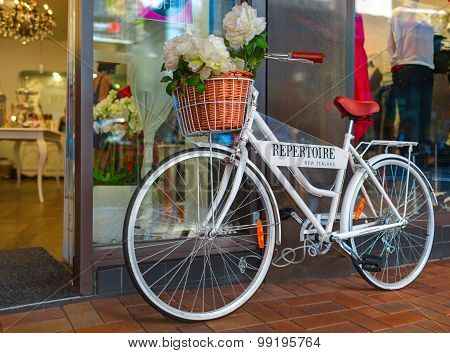 White bicycle-monument