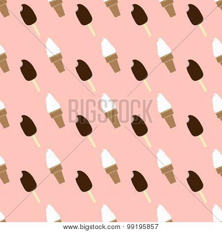 Ice-creams Seamless Pattern
