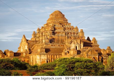 Scenic Sunset View Of Ancient Temple Dhammayangyi In Bagan